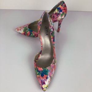 NWOB a.n.a. watercolor floral heels Size 7M